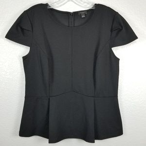 Ann Taylor Factory Black Peplum top size M